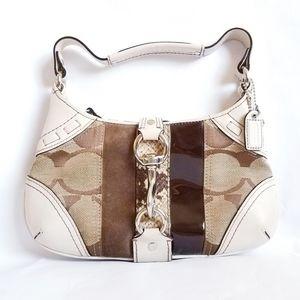 Coach Hampton Python Small Hobo Clip Bag 10287